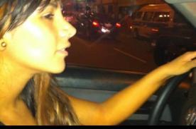 Foto: Leisy Suárez recuperó su camioneta luego de asalto