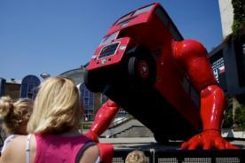 Fotos: Ómnibus que hace planchas es sensación en las Olimpiadas de Londres