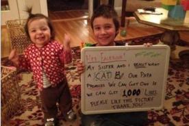Video: Niños reciben gato de obsequio por lograr mil 'likes' en Facebook