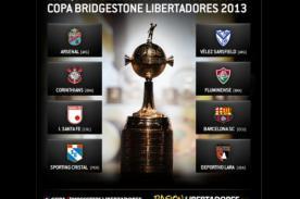 Grupos para la Copa Bridgestone Libertadores 2013