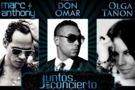 Juntos en Concierto: Marc Anthony, Don Omar y Olga Tañón llegan a Lima - Video