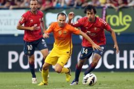 Liga BBVA: Osasuna vs Barcelona en vivo por DirecTV (1:00 p.m.)