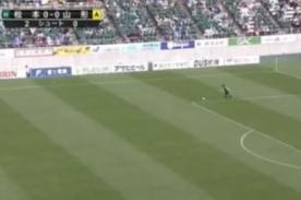 Video: Increíble gol de arco a arco en el fútbol japonés