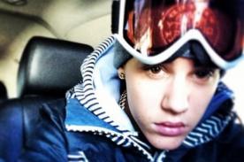 Justin Bieber marcó sus iniciales en la nieve con su orina - Foto