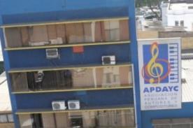 INDECOPI sanciona con suspensión y multa al consejo directivo de APDAYC