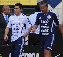 Perú vs Paraguay: Salvador Cabañas entrenó con la selección paraguaya