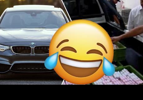 Hombre compró un BMW con todas las monedas que ahorró por muchos años