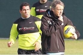 Fútbol Inglés: Carlos Tevez volvió a entrenarse con el Manchester City