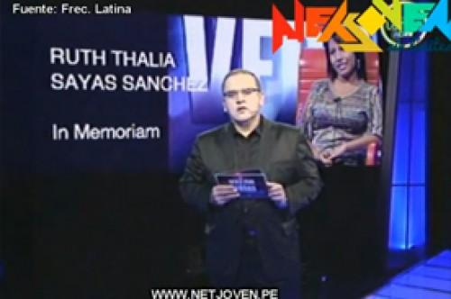 El valor de la verdad: Beto Ortiz dedica palabras a Ruth Thalía (Video)