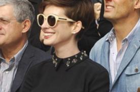 Anne Hathaway vistió muy recatada tras escándalo de su ropa interior