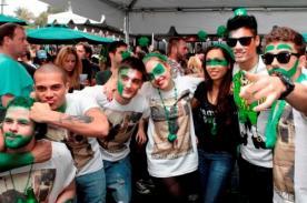 Fotos: The Wanted se manchó con pintura verde por el Día de San Patricio
