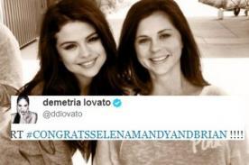 Demi Lovato felicita a Selena Gomez por nacimiento de hermanita