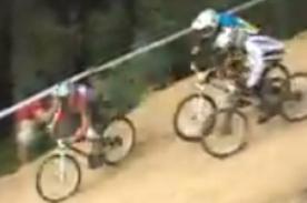 VIDEO: Ciclista realiza impresionante truco para ganar carrera