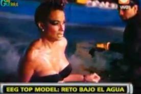 EEG: Natalie Vértiz y Milett Figueroa sexys en sesión bajo el agua fría - Video