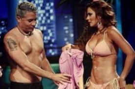 Mathías Brivio y Andrea Rincón promocionan Esto es Guerra en traje de baño - Fotos