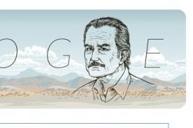 Carlos Fuentes: Homenaje de Google por el 85° aniversario de su nacimiento
