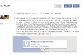 Hombre convoca a saquear mall por Facebook y es buscado por la policía