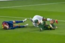 Barcelona vs Chelsea: Piqué quedó inconsciente por segundos - Video