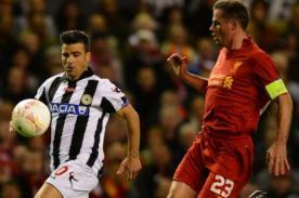 Gol del Udinese vs Liverpool (0-1) - UEFA Europa League - Video