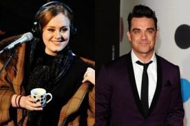 Adele grabaría canción con Robbie Williams
