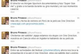 Bruno Pinasco entrevistó a One Direction vía Skype