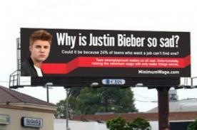 Justin Bieber luce triste 'por la falta de trabajo para adolescentes'
