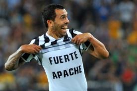 Carlos Tévez: En Juventus juego como lo hacía en 'Fuerte Apache'