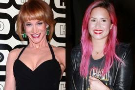 Kathy Griffin recibe amenazas tras llamar 'idiota' a Demi Lovato