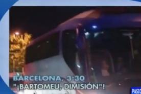 Hinchas reciben con insultos al Barcelona tras perder la Copa del Rey - VIDEO