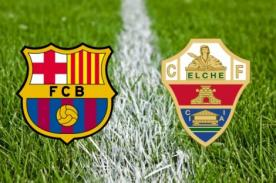 Liga BBVA: Minuto a minuto Barcelona vs. Elche (0-0) - En vivo por ESPN+