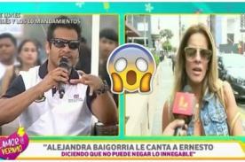 ¡La hace larga!: Ernesto Jiménez confiesa esto de su 'relación' con Alejandra Baigorria