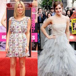 Emma Watson y Jennifer Aniston entre las Celebridades Mejor Vestidas de la Semana