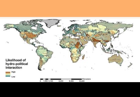 Este mapa muestra dónde es más posible que se produzca la guerra por el agua en el futuro