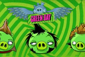 Green Day son cerditos rockeros en Angry Birds
