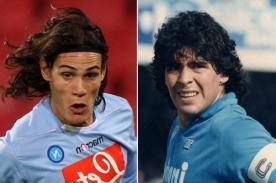 Edinson Cavani quiere quebrar récord histórico de Maradona en el Napoli
