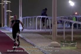 Video: Oscar Pistorius superó a un caballo en una carrera