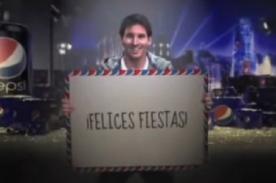 Video: Lionel Messi envió mensaje de navidad para hinchas del Barcelona