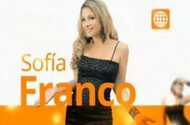 Sofía Franco feliz de reencontrarse con su público