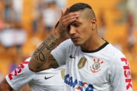 Paolo Guerrero estará de baja hasta el próximo año - Corinthians
