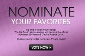 Mira la lista completa de categorías para los Peoples Choice Awards 2014