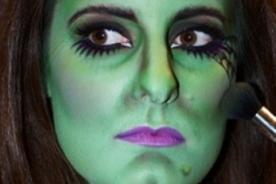 Maquillaje para un disfraz de bruja - Halloween