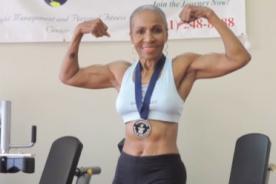 Mujer de 77 años tiene un cuerpo envidiable y es fisicoculturista