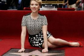 Scarlett Johansson recibe estrella en el Paseo de la Fama de Hollywood