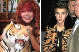 Justin Bieber luce saco al estilo de la Tigresa del Oriente