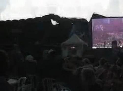 Impactante video muestra el derrumbe del escenario para show de Radiohead