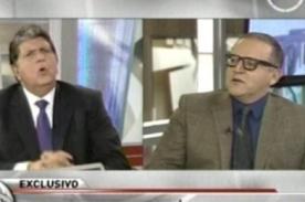 Alan García no quiso hablar de Jason Day a Beto Ortiz