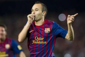 Video: Magistral jugada de Andrés Iniesta en la goleada del Barcelona