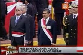 Ollanta Humala es criticado por llegar tarde a la Parada Militar