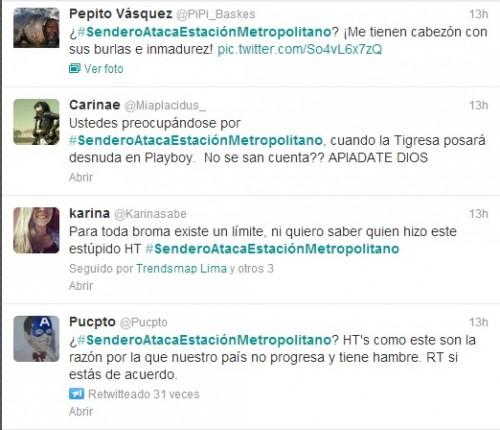 Twitter: Alarma por supuesto atentado terrorista en Metropolitano