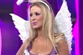 Barbie peruana, Jamila Dahabreh, calentó el set de La Noche es Mía - VIDEO